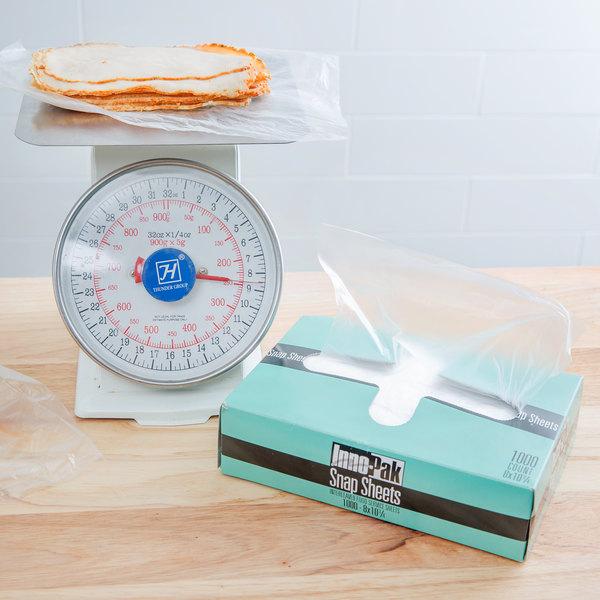 "Box of 1000 10 3/4"" x 8"" Plastic Deli Wrap and Bakery Wrap"