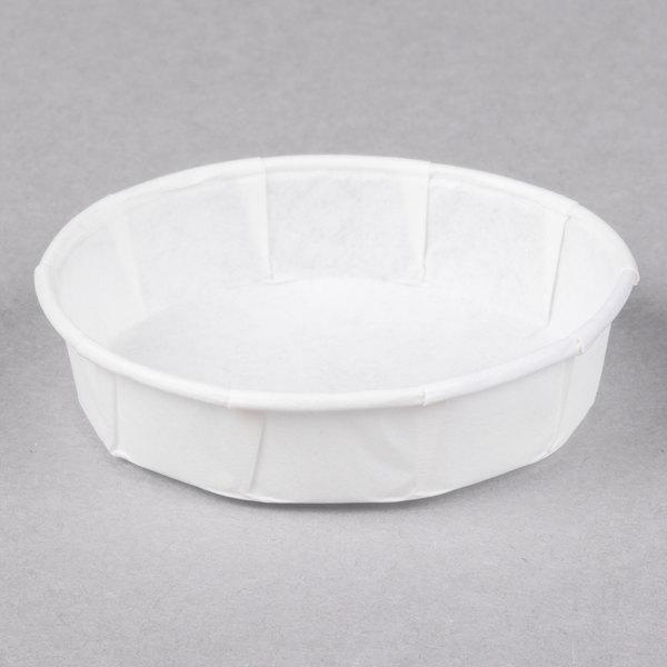 Genpak F100S 1 oz. Squat Harvest Paper Souffle / Portion Cup - 5000/Case