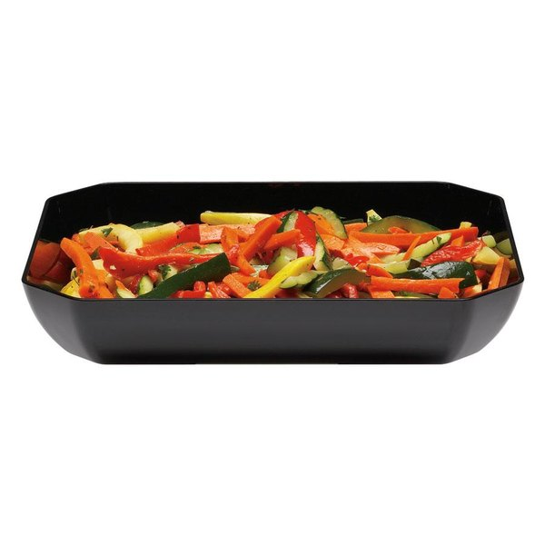 Cambro SFG1012110 Black ShowFest Octagonal Serving Bowl 3 Qt. - 6/Case Main Image 1
