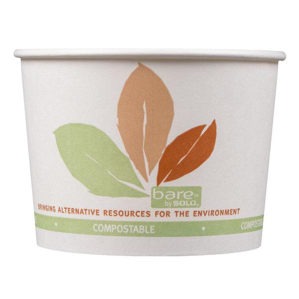 Dart Solo V516PL-JF522 Leaf Print 16 oz. Eco-Forward Paper Soup / Hot Food Cup - 500/Case