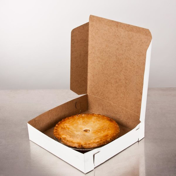 "10"" x 10"" x 2 1/2"" White Pie / Bakery Box - 10/Pack Main Image 6"