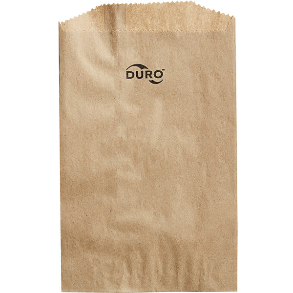 "Duro 6"" x 9"" Brown Merchandise Bag - 1000/Bundle Main Image 1"