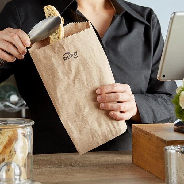 "Duro 6"" x 9"" Brown Merchandise Bag - 1000/Bundle Main Image 3"