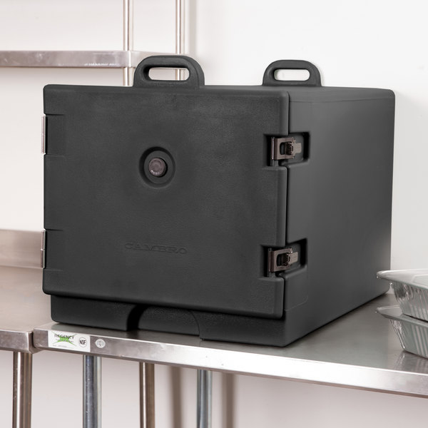 Cambro 1826MTC110 Camcarrier Black Front Loading Insulated Tray / Sheet Pan Carrier for Full Size Pans Main Image 4