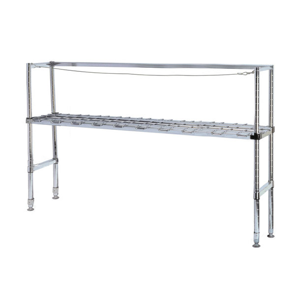"""Metro KR345DC Four Keg Rack with One Dunnage Rack - 42"""" x 18"""" x 56 1/8"""""""