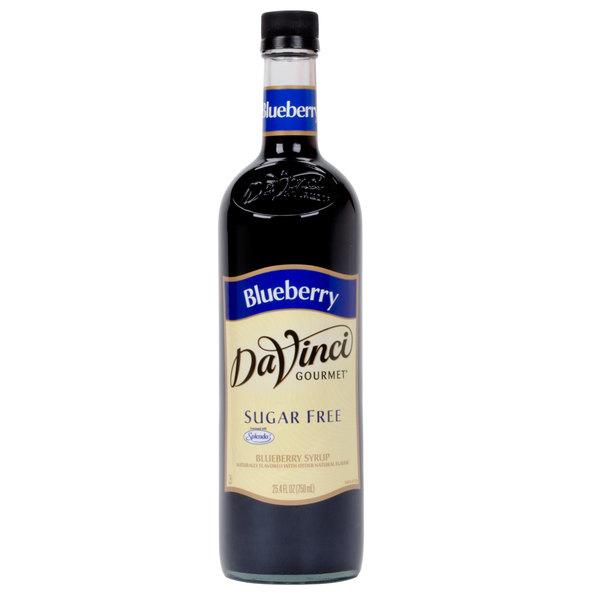 DaVinci Gourmet 750 mL Blueberry Sugar Free Coffee Flavoring / Fruit Syrup