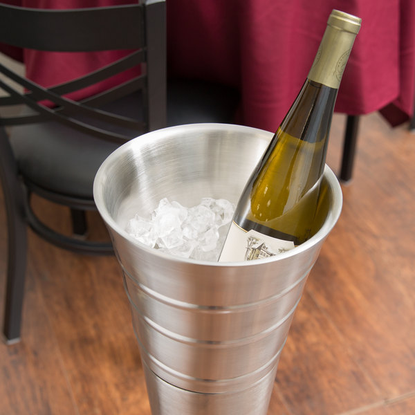 American Metalcraft SWB 5 Qt. Double Wall Swirl Wine Bucket