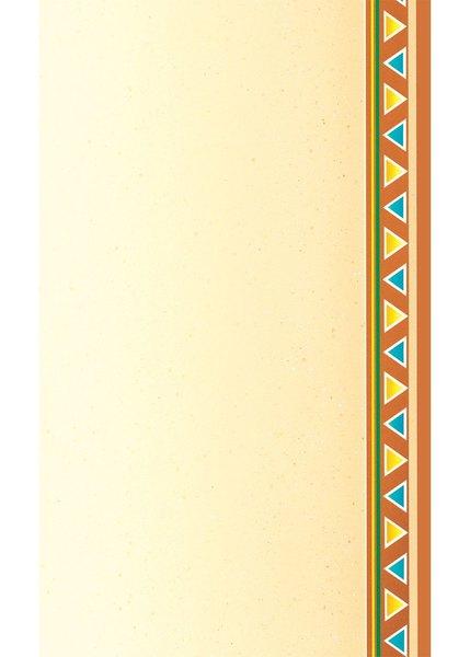 "8 1/2"" x 14"" Menu Paper - Southwest Themed Fiesta Border Design Right Insert - 100/Pack"