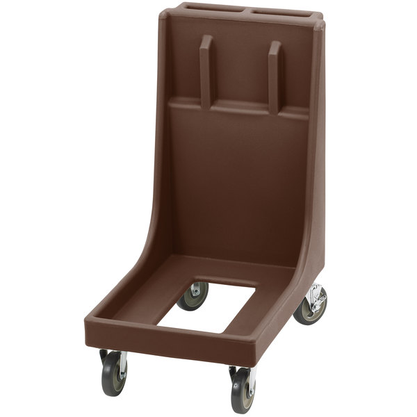 Cambro CD300H Dark Brown Camdolly for Cambro Camtainers and Camcarriers with Handle