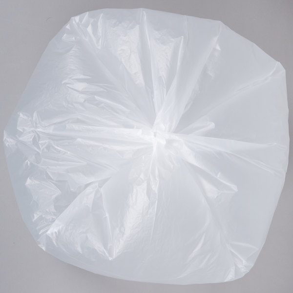 """55 Gallon 16 Micron 38/"""" x 60/"""" High Density Can Liner Trash Bags 200-Pack"""