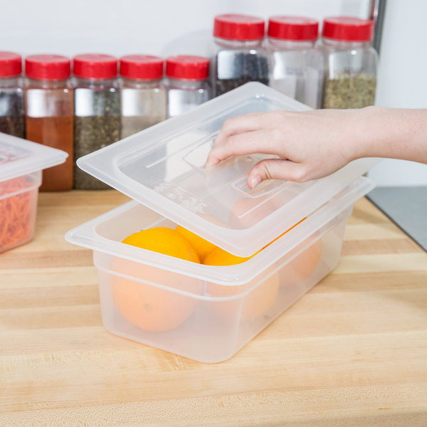 Cambro 30PPCH190 1/3 Size Translucent Polypropylene Handled Lid