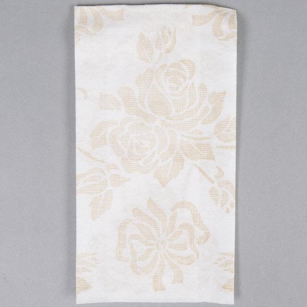 Hoffmaster 856520 Linen-Like 12 inch x 17 inch Gold Prestige 1/6 Fold Guest Towel  - 500/Case