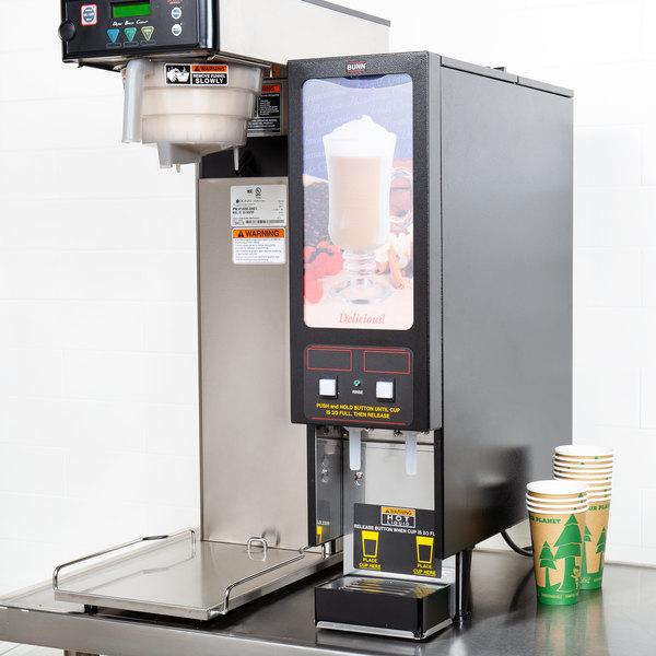 Bunn SET00.0200 FMD-2 BLK Fresh Mix Cappuccino / Espresso Machine Hot Beverage Dispenser with 2 Hoppers - 120V Main Image 13