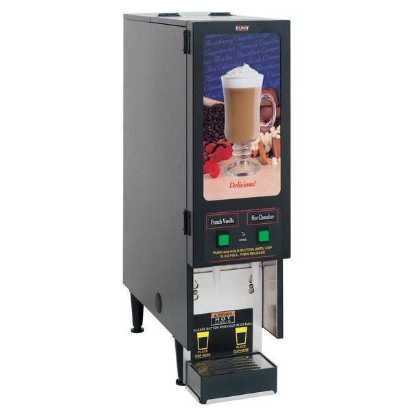 Bunn SET00.0200 FMD-2 BLK Fresh Mix Cappuccino / Espresso Machine Hot Beverage Dispenser with 2 Hoppers - 120V