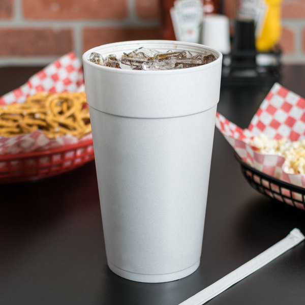 Dart 44TJ32 44 oz. Customizable White Foam Cup - 300/Case
