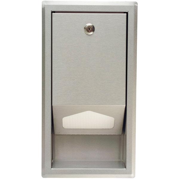 Koala Kare KB134-SSLD Stainless Steel Recess Mount Sanitary Changing Station / Table Liner Dispenser