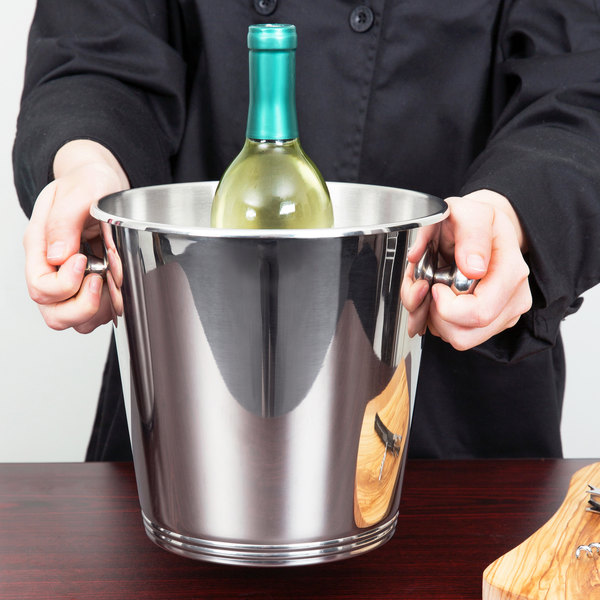 Vollrath 47620 Stainless Steel Wine Bucket with Handles