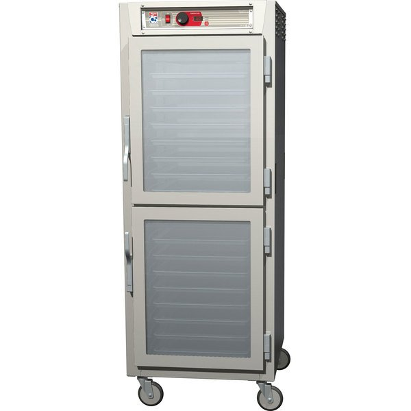 Metro C589-NDC-UPDC C5 8 Series Reach-In Pass-Through Heated Holding Cabinet - Clear Dutch Doors