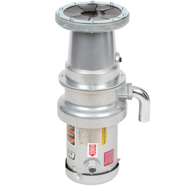 Hobart FD4/50-2 Commercial Garbage Disposer with Long Upper Housing - 1/2 hp, 208-240/480V Main Image 1