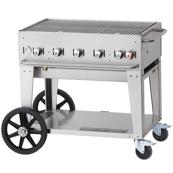 Crown Verity MCB-36 Natural Gas Portable Outdoor BBQ Grill / Charbroiler
