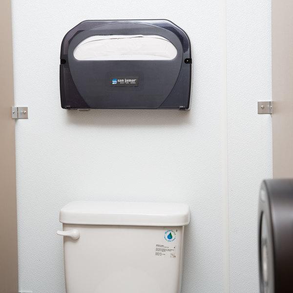 Astonishing San Jamar Ts510Tbk Toilet Seat Cover Dispenser Black Pearl Ncnpc Chair Design For Home Ncnpcorg