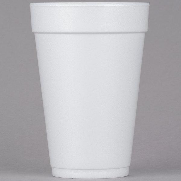 444b2d11708 Dart 16J16 16 oz. White Customizable Foam Cup - 1000 Case. Image Preview ·  Main Picture ...