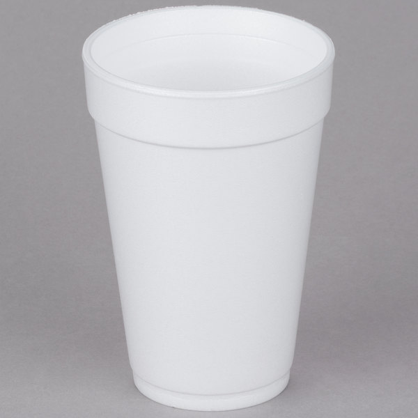 Dart 16j16 16 Oz Customizable White Foam Cup 1000 Case