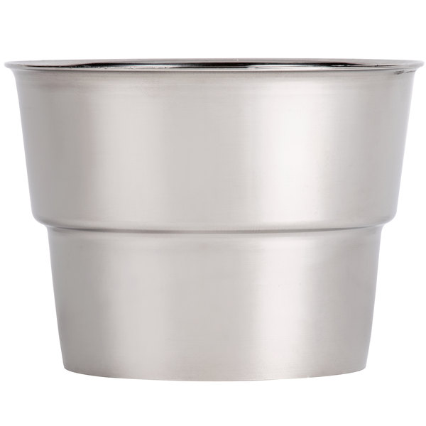"Malt Cup Collar for 3 3/8"" Cups - Stainless Steel with 4"" Top Diameter"