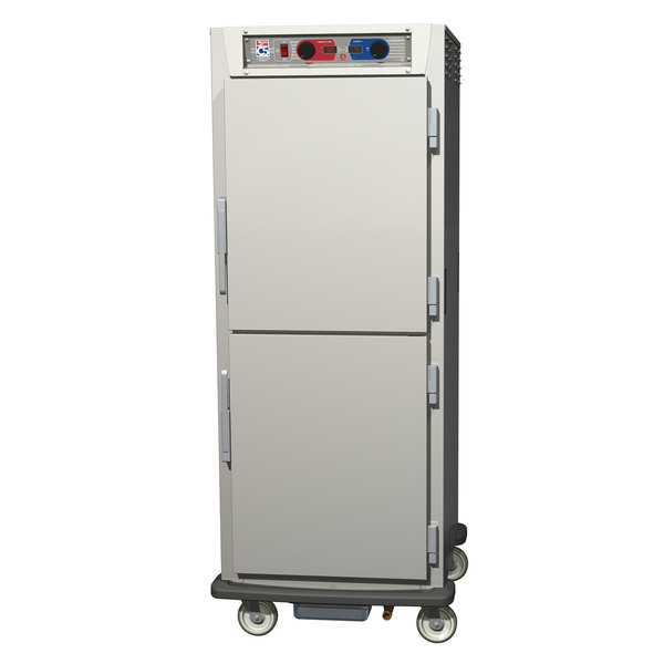 Metro C599-SDS-UPDC C5 9 Series Pass-Through Heated Holding and Proofing Cabinet - Clear / Solid Dutch Doors