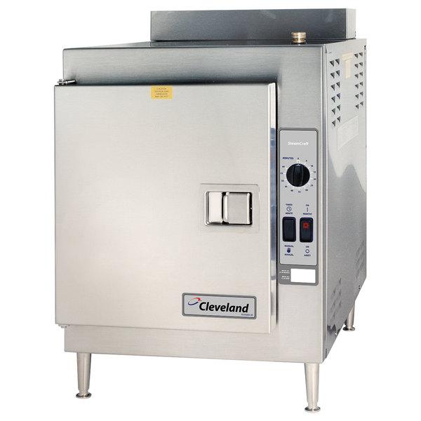Cleveland 21CGA5 SteamCraft Ultra Natural Gas 5 Pan Countertop Steamer - 70,000 BTU Main Image 1