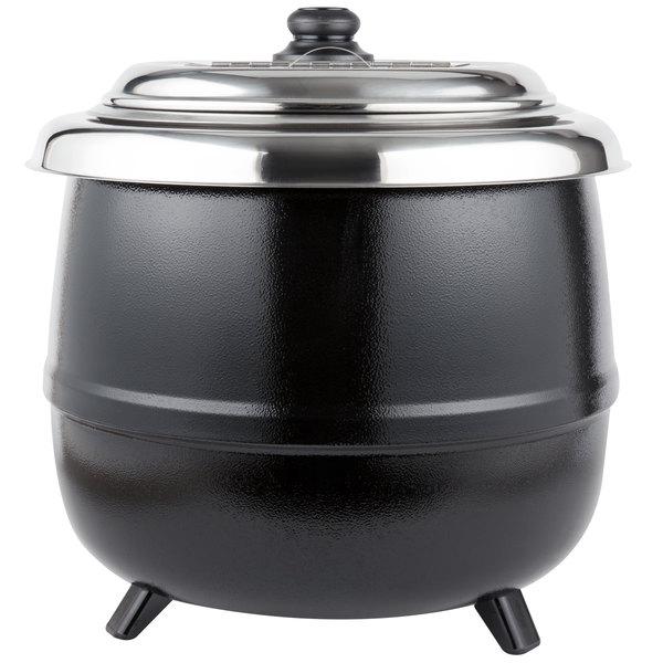 Electric Soup Warmer ~ Avantco s qt black electric soup kettle warmer