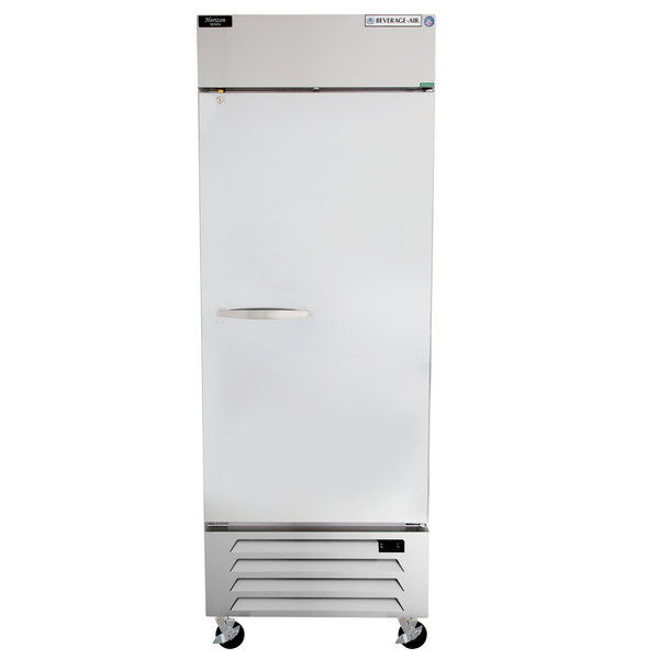 """Beverage-Air HBR27-1-S Horizon Series 30"""" Bottom Mounted Solid Door Reach-In Refrigerator with LED Lighting"""