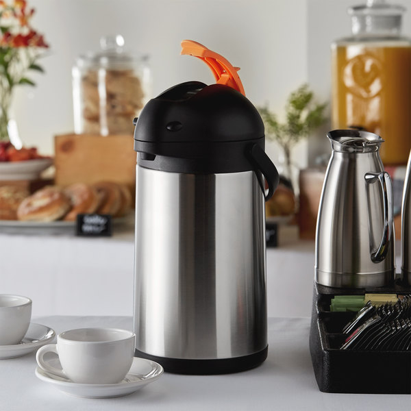 Choice 3.5 Liter Stainless Steel Lined Decaf Airpot with Lever Main Image 4