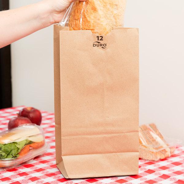 Duro 12 lb. Brown Paper Bag - 500/Bundle
