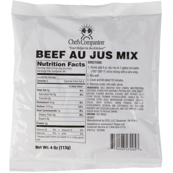 Chef's Companion 4 oz. Au Jus Mix - 12/Case Main Image 1