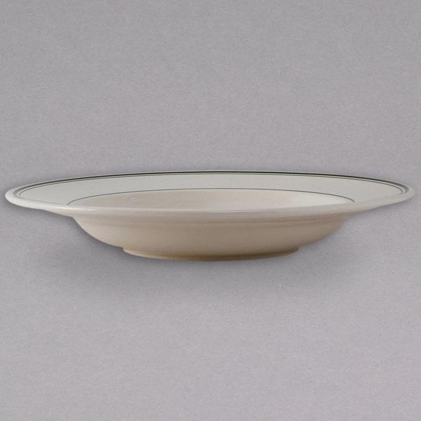 Tuxton TGB-125 Green Bay 26 oz. Wide Rim China Soup / Pasta Bowl - 12/Case