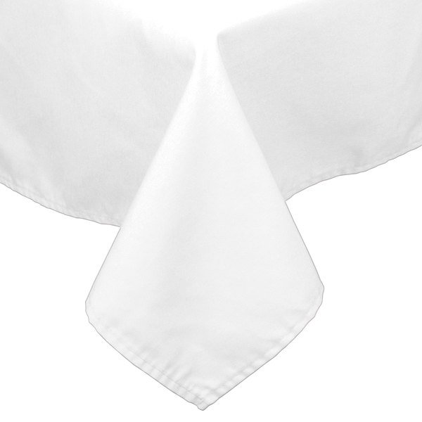 """45"""" x 120"""" White 100% Polyester Hemmed Cloth Tablecloth"""