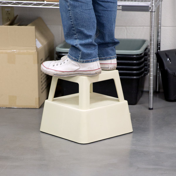 "Continental 523TN 13"" Beige Mobile Step Stool Main Image 11"