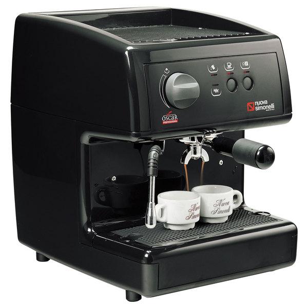 Nuova Simonelli MOP1400104-BLK GROUND Black Oscar Professional Espresso Machine - Pourover, 110V
