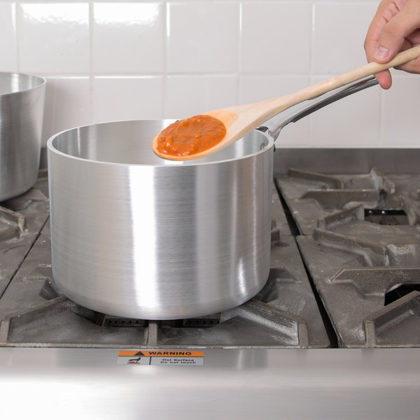 Vollrath 69404 Wear-Ever Classic Select 4.5 Qt. Straight Sided Heavy-Duty Aluminum Sauce Pan with TriVent Chrome Plated Handle Main Image 2