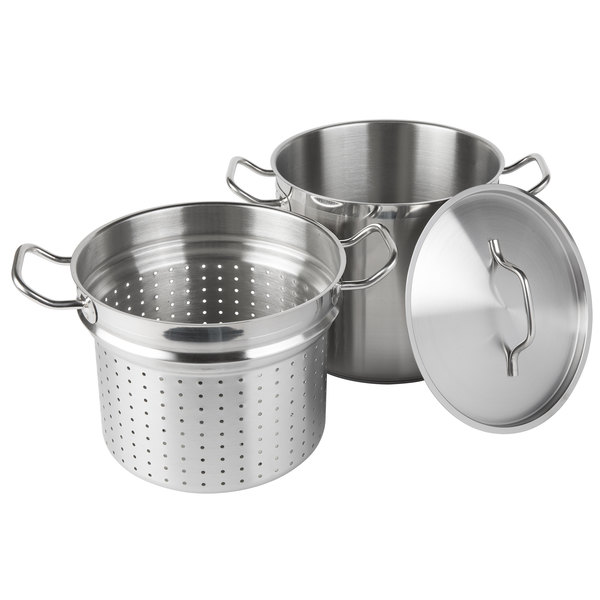 12 Qt. Stainless Steel Pasta Cooker Combination