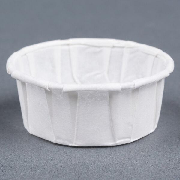 Genpak F050S .5 oz. Squat Harvest Paper Souffle / Portion Cup 250 / Box