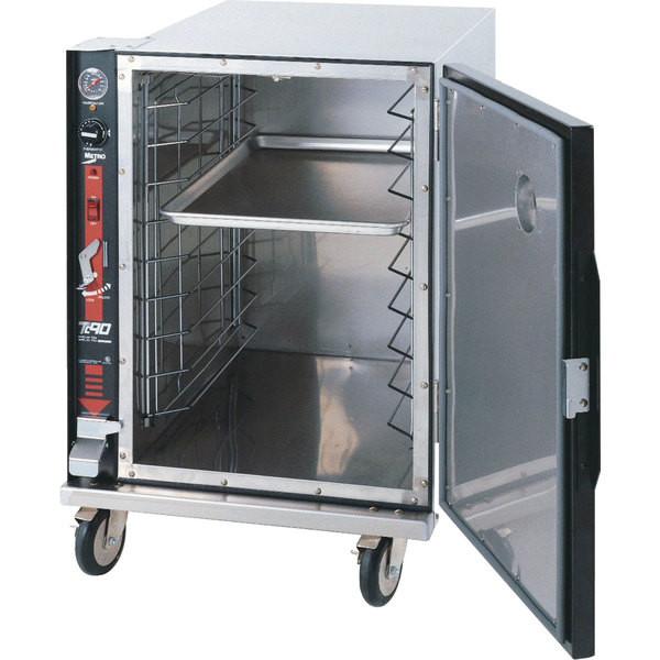 "Metro TC90BB FlavorHold Half Height Heated Holding Cabinet with Bumper - Holds Nine 18"" x 26"" Bun Pans"