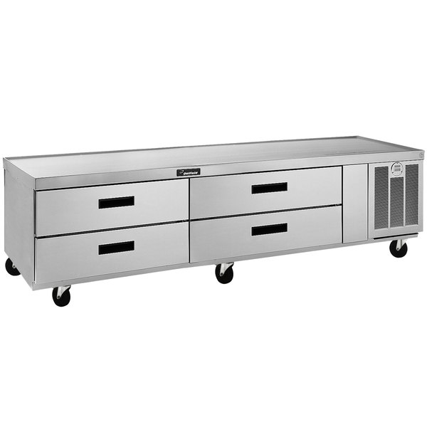 """Delfield F2980C 80"""" Four Drawer Refrigerated Chef Base"""