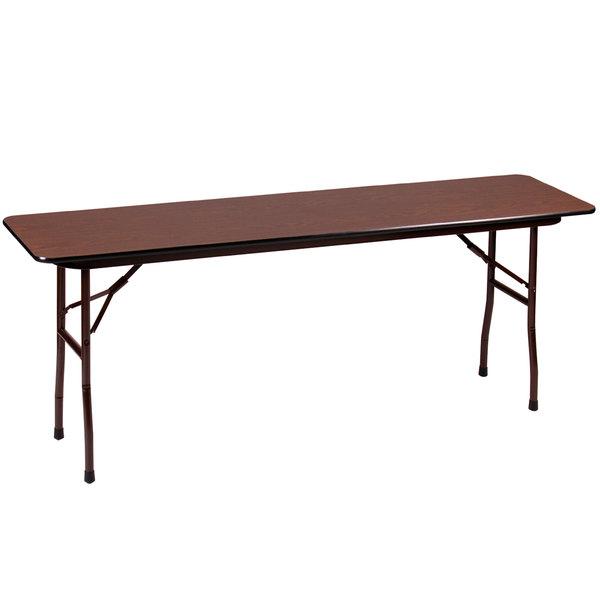 "Correll Folding Table, 18"" x 96"" Melamine Top, Walnut - CF1896M"