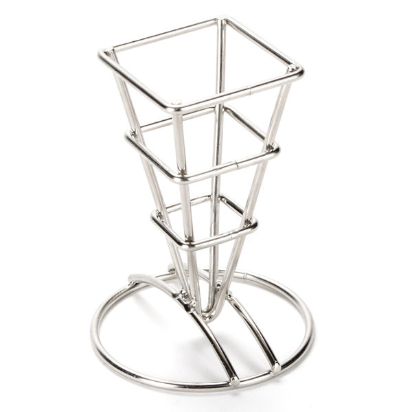 American Metalcraft Sqfbss Square Stainless Steel Fry Cone Holder