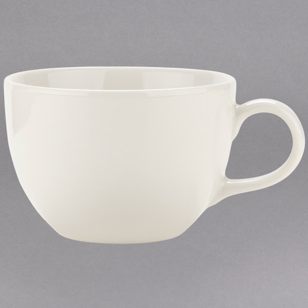 Tuxton VEF-1002 Venice 10 oz. Ivory (American White) China Cup - 36/Case