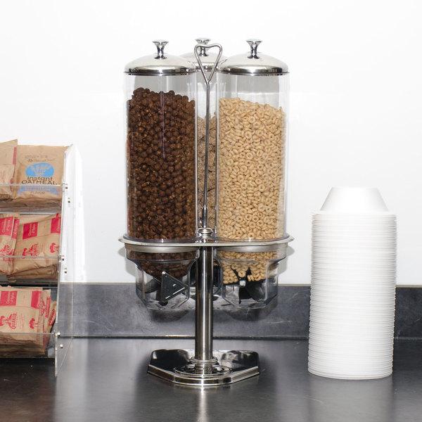 Triple Canister Dry Food Dispenser