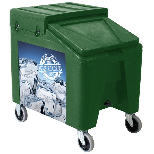 IRP 5075 Green Ice Caddy II 140 lb. Mobile Ice Bin / Beverage Merchandiser