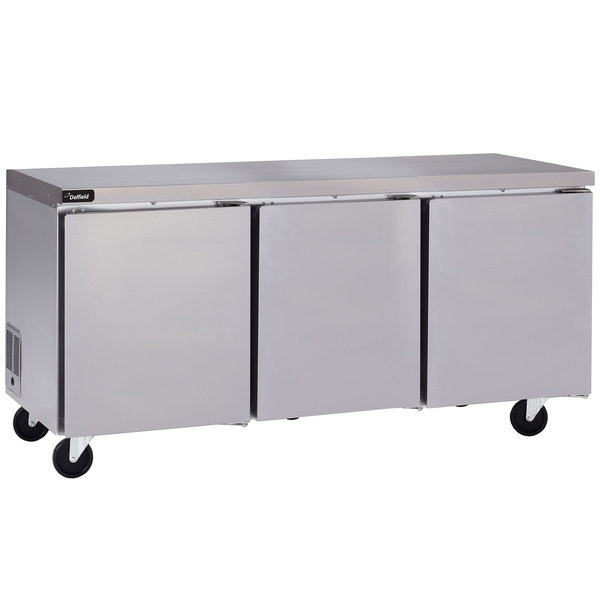 """Delfield GUR72P-S 72"""" Undercounter Refrigerator with 3"""" Casters - 24.8 Cu. Ft."""